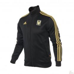 Chamarra Adidas de los Tigres de UANL Negro Gala